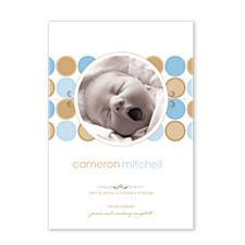 Mod Baby Birth Announcement Cards