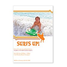 Surf's Up Kids Party Invitations