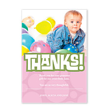 Chunky Thanks Photo Thank You Cards