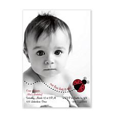 Little Lovebug Baby Party Invitations