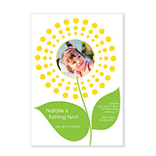 Fanned Out Dots Photo Kid Party Invitations