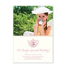 Tea Party Birthday Party Invitations