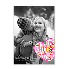 Hugs Hugs Hugs Valentine Photo Cards