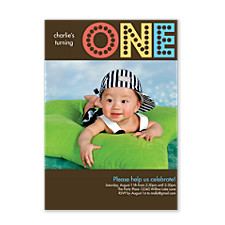 Turning One Boy Kids Party Invitations