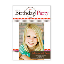 Party Time Birthday Party Invitations
