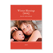 Winter Blessings Christmas Photo Cards
