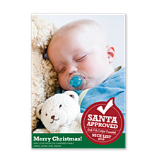 Santa Approved Holiday Photo Cards