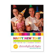Colorful Memories Christmas Photo Cards