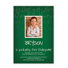 Alphabet City Graduation Invitation Photo Cards