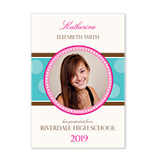 Center Circle Graduation Photo Cards