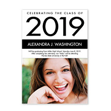 Black & White Graduation Photo Cards