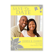 Falling Petals Save the Date Photo Cards