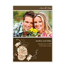 Corsage Save the Date Photo Cards