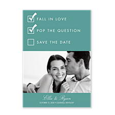 The Checklist Save the Date Photo Cards