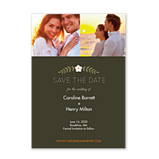 Floral Vine Vertical Save the Date Cards
