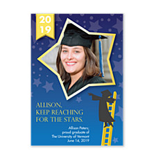 Reach for the Stars Graduation Announcement Cards