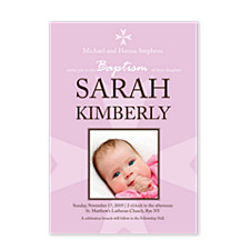 Baptism Girl Kid Party Invitations