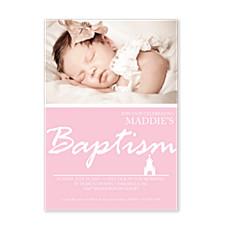 Chapel Baptism Pink Invitations