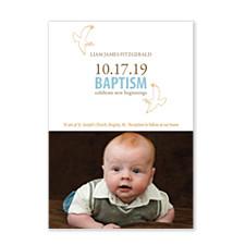 Baptism Doves Kids Photo Party Invitations