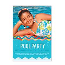 Swim Time Birthday Party Invitations