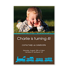 Choo Choo Kid Birthday Party Invitations