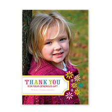 Floral Thank You Photo Cards