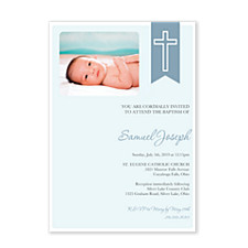 Blue Christening Sash Invitations
