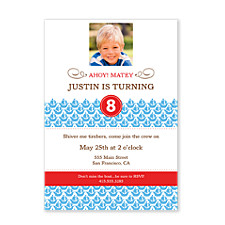 Shiver Me Timbers Birthday Party Invitations