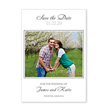 It's Only Love White Save the Date Cards