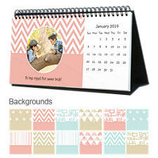 Contemporary 12 Month Photo Softcover Desk Calendar 10 x 5
