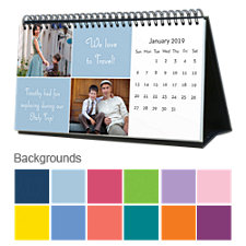 Solid Colors 12 Month Photo Hardcover Desk Calendar 10 x 5