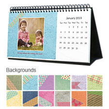 Textures 12 Month Photo Softcover Desk Calendar 10 x 5