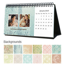 Vintage 12 Month Photo Hardcover Desk Calendar 10 x 5
