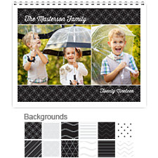 Black & White 12 Month Photo Wall Calendar 11 x 8.5