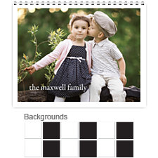 Classic Black & White 12 Month Photo Wall Calendar 11 x 8.5