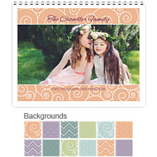 Dots Stripes and Patterns 12 Month Photo Wall Calendar 11 x 8.5