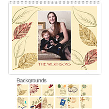 Holiday 12 Month Photo Wall Calendar 11 x 8.5