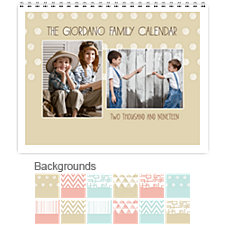 Contemporary 12 Month Photo Wall Calendar 11 x 8.5