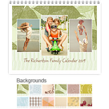Naturals 12 Month Photo Wall Calendar 11 x 8.5