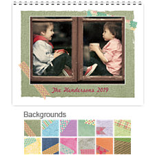 Textures 12 Month Photo Wall Calendar 11 x 8.5