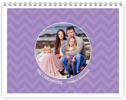 Bright & Colorful 12 Month Photo Wall Calendar 11 x 8.5