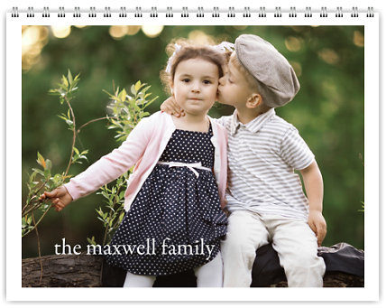 Classic Black & White 12 Month Photo Wall Calendar 11 x 8.5