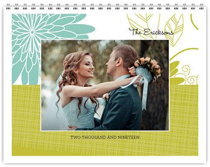 Floral 12 Month Photo Wall Calendar 11 x 8.5