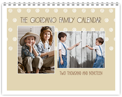 Contemporary 12 Month Photo Wall Calendar 11 x 8.5