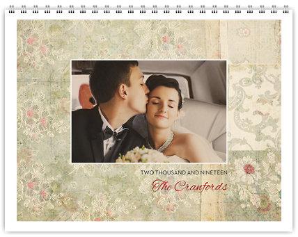 Vintage 12 Month Photo Wall Calendar 11 x 8.5